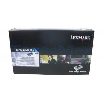 LEXMARK X748 RP PRINT CARTRIDGE CYAN 10K TAA